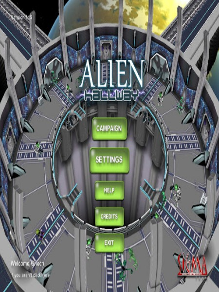 Download Alien Hallway Game For PC